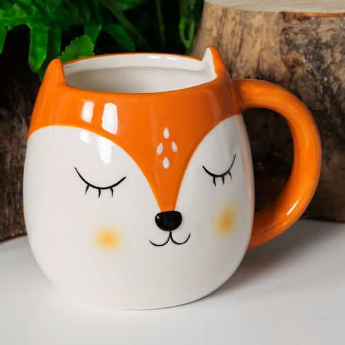 Fox Face Coffee Mug - Animal Friends Ceramic Fox Mug